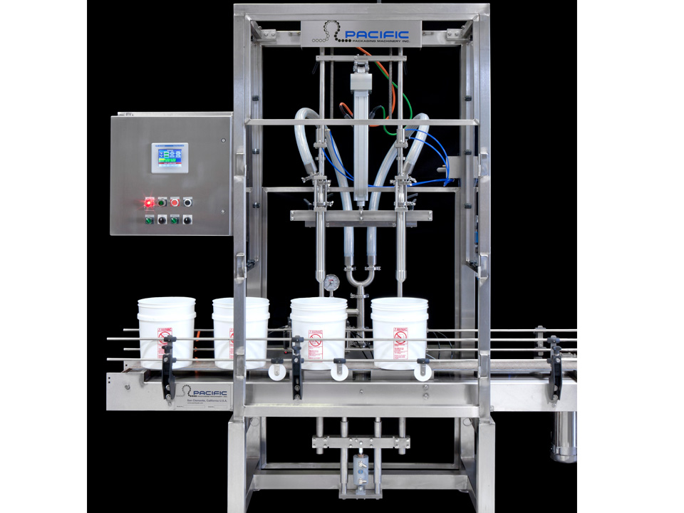 Net Weight Inline Pail Filling and Lidding Machine