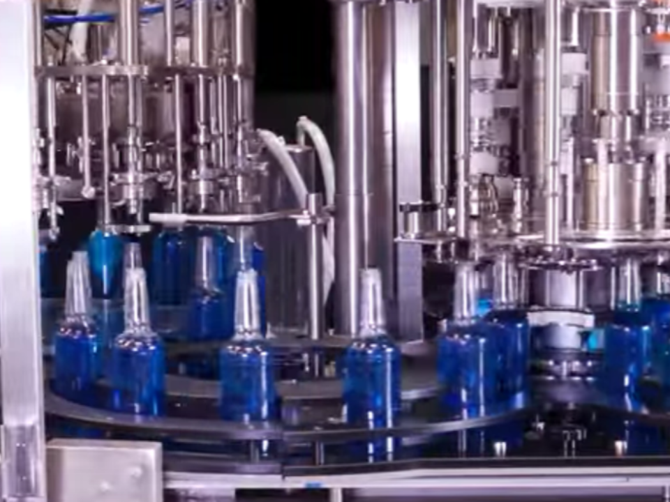 Rotary Mag Flow Filler And Capper Monobloc Syrups Toppings