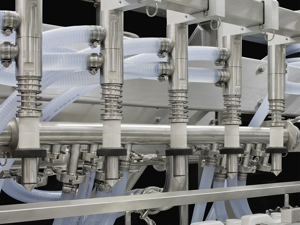 Volumetric Piston Inline Filler, Food Products